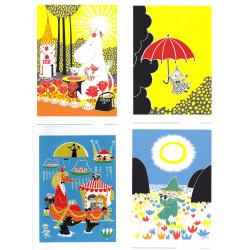 Moomin Set of 4 Posters 24 x 30 cm