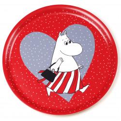 Moomin Birch Tray Heart Red...