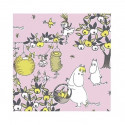 Moomin Paper Napkins Celebration Pink 20 pcs 24 x 24 cm