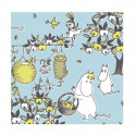 Moomin Paper Napkins Celebration Blue 20 pcs 24 x 24 cm