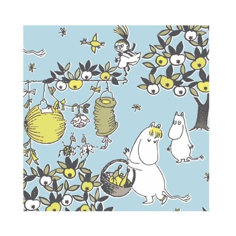 Moomin Paper Napkins Celebration Blue 20 pcs 24 x 24 cm