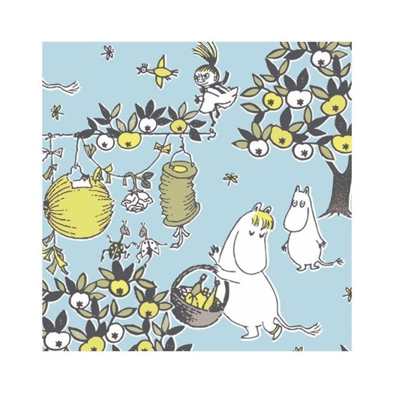Moomin Paper Napkins Celebration Blue 20 pcs 33 x 33 cm