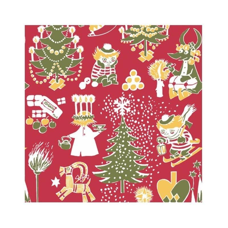 Moomin Paper Napkins Christmas Red 20 pcs 33 x 33 cm