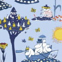 Moomin Paper Napkins Pellinki Blue 20 pcs 33 x 33 cm