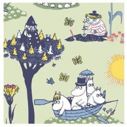 Moomin Paper Napkins Pellinki Green 20 pcs 33 x 33 cm