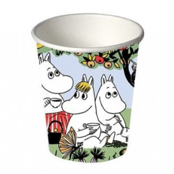 Moomin Party Paper Hot Cup 0.25 L 12 pcs