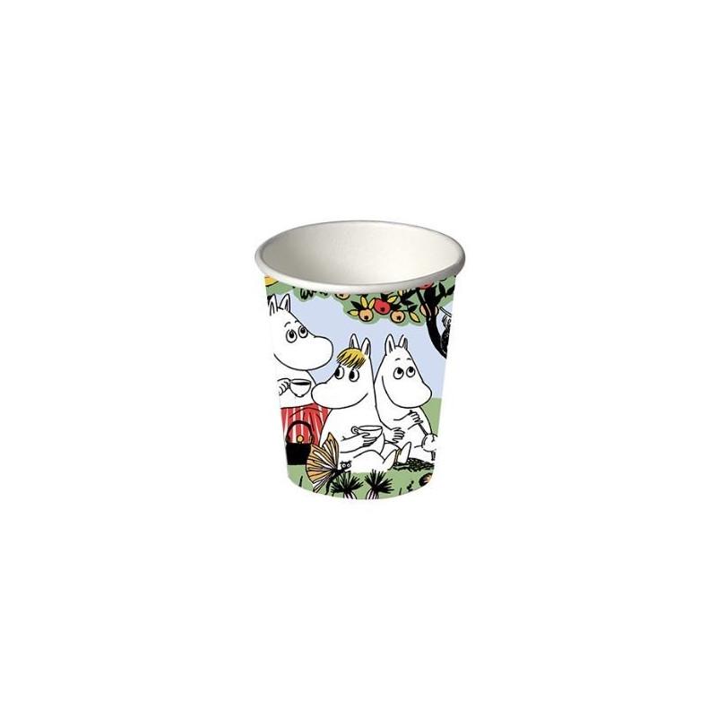 Moomin Party Paper Hot Cup 0.25 L 12 pcs