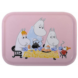 Moomin Birch Tray Tea Party Pink 27 x 20 cm
