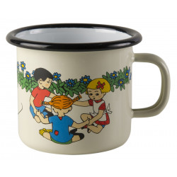 Enamel Mug Pippi And Friends 0.25 L Muurla