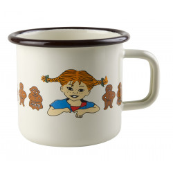 Pippi Longstocking Enamel Mug Gingerbread 0.37 L Muurla