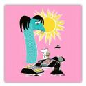 Moomin Paper Napkins 33 Håll Sverige Rent Pink Optodesign