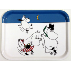 Moomin Birch Tray Moomintroll on Ice 27 x 20 cm Muurla