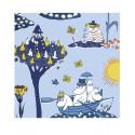 Moomin Paper Napkins Pellinki Blue 20 pcs 24 x 24 cm