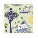 Moomin Paper Napkins Pellinki Green 20 pcs 24 x 24 cm