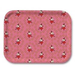 Moomin Tray Pattern Little My Pink 27 x 20 cm Optodesign