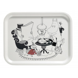 Moomin Birch Tray Pappa Reading 27 x 20 cm