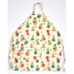 Moomin Children Apron 50's Pattern Waxed Cotton