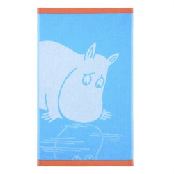 Moomin Hand Towel Moomintroll Turquoise 30 x 50 Finlayson