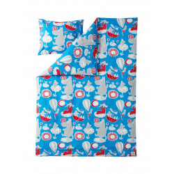 Moomin Duvet Cover Pillowcase Dream Red 150 x 210cm 55 x 65 cm
