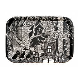 Moomin Birch Tray Cottage in the Woods 27 x 20 cm