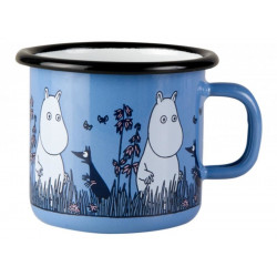Moomin Enamel Mug Friends Moomintroll 0.25 L Muurla