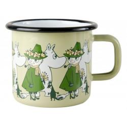 Moomin Enamel Mug Friends Moomintroll and Snufkin 0.37 L Muurla