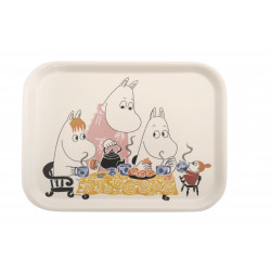 Moomin Birch Tray 27 x 20 cm Tea Party