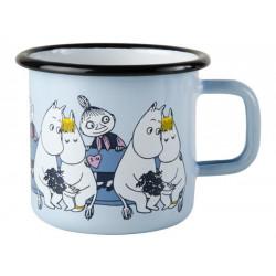 Moomin Enamel Mug Friends Troll, Snorkmaiden, Mymble 0.37 L Muurla