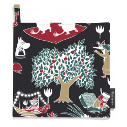 Moomin Pot Holders 2 pcs Magic Red Black 22 x 22 cm Finlayson