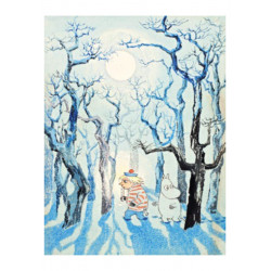 Moomin Tove 100 Greeting Card with Envelope Too Ticky Moomin Troll