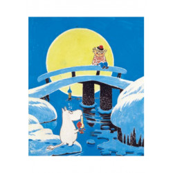 Moomin Tove 100 Greeting Card with Envelope Magic Winter