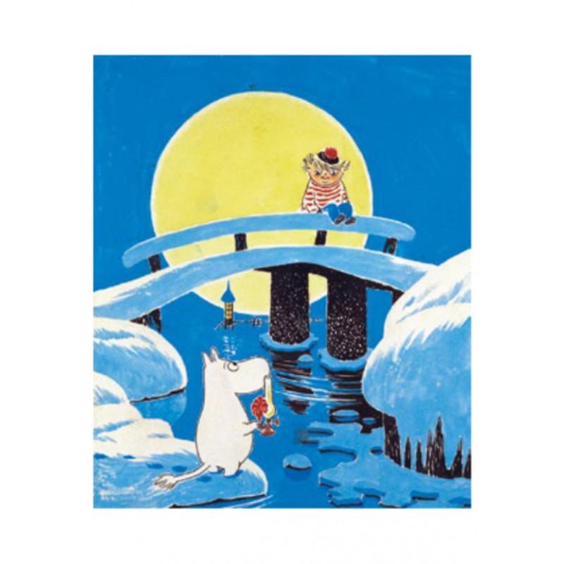 Moomin Tove 100 Greeting Card with Envelope Magic Winter