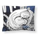 Moomin Pillowcase Napping Little My Dark Blue 50 x 60 cm Finlayson