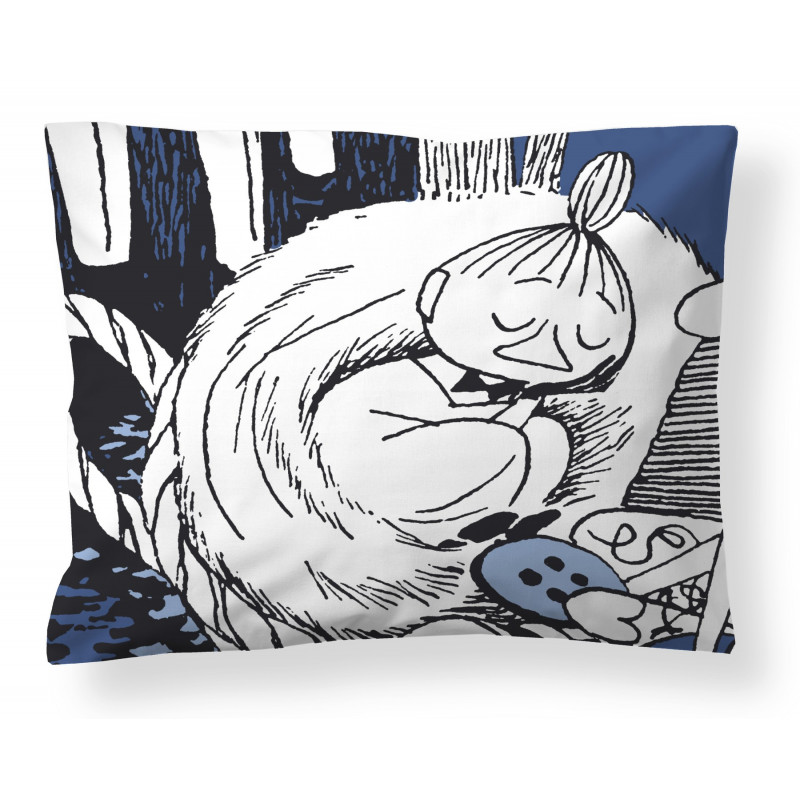 Moomin Pillowcase Napping Little My Dark Blue 50 x 60 cm Finlayson