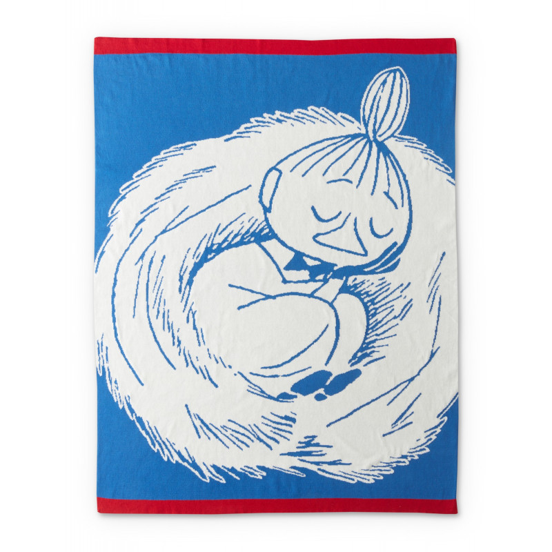 Moomin Cotton Baby Blanket Napping Little My Blue 80 x 100 cm Finlayson