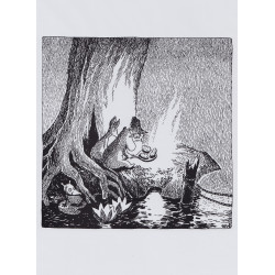 Moomin Picture Poster 24 x 30 cm Tove Jansson Moomintroll and the Comet