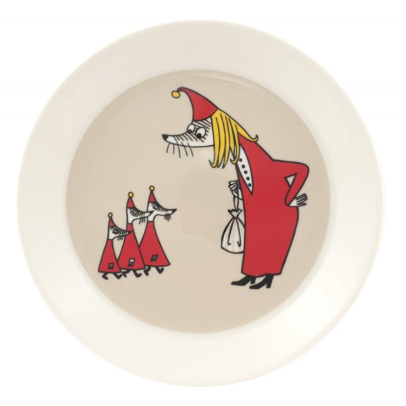 Moomin Plate Vilijonkka Fillyjonk 19 cm