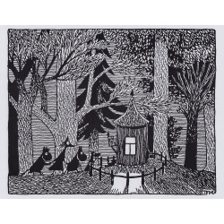 Moomin Picture Poster 24 x 30 cm Tove Jansson Illustrations Dark Woods