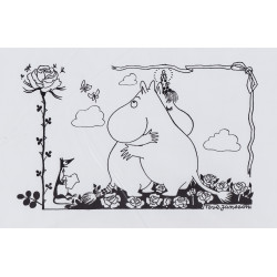 Moomin Picture Poster 24 x 30 cm Tove Jansson Illustrations Hugging Moomins