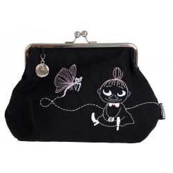 Moomin Clutch Bag Pouch Little My Butterfly Embroidered16 x 20 cm