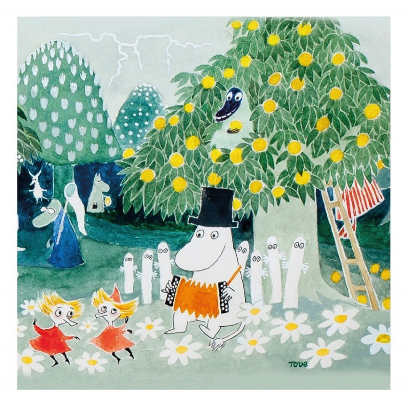 Moomin Moominvalley Napkins 20pcs 33 x 33 cm Optodesign