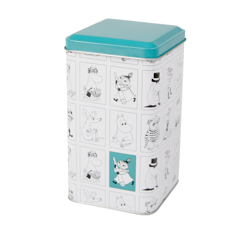 Moomin Characters Tin Can White Turquoise