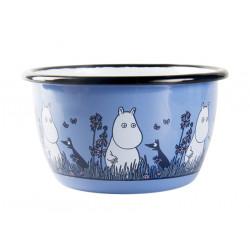 Moomin Enamel Bowl Friends Moomintroll 0.3 L Muurla