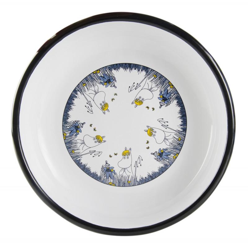 Moomin Enamel Plate Friends Snorkmaiden 18 cm Muurla
