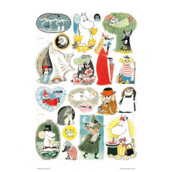 Moomin Poster Characters from Moomin Stories 24 x 30 cm
