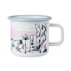 Moomin Enamel Mug Winter Time 0.37 L Winter 2017 Muurla