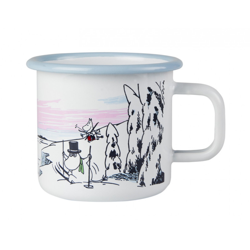 Moomin Enamel Mug Winter Time 0.37 L Winter 2017 Muurla