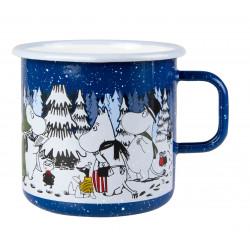 Moomin Enamel Big Mug Winter Forest 0.8 L Winter 2017 Muurla