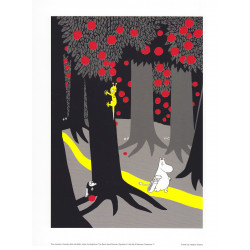 Moomin Poster Forest Path Tove Jansson 24 x 30 cm