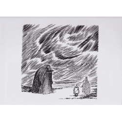 Moomin Poster Groke Moomintroll Tove Jansson 24 x 30 cm